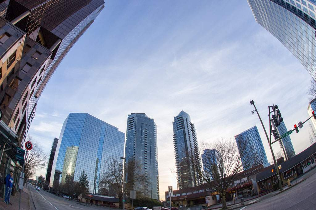 High-Rises Buildings,Downtown Bellevue, WA