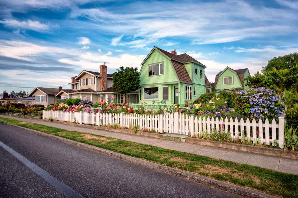 Beach homes, Edmonds,WA