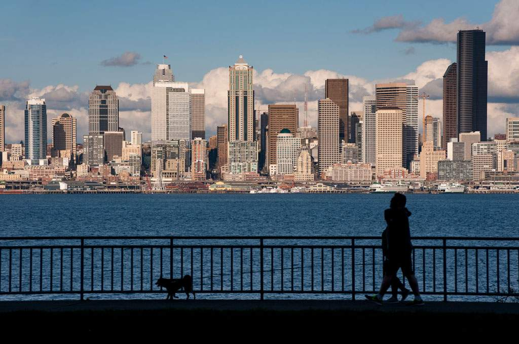 Seattle Skyline from Alki, West Seattle