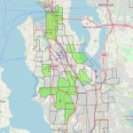 The photo shows oportunity zones in areas around Seattle, King County, Washington State